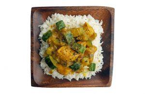 Arroz basmati coco curry receta