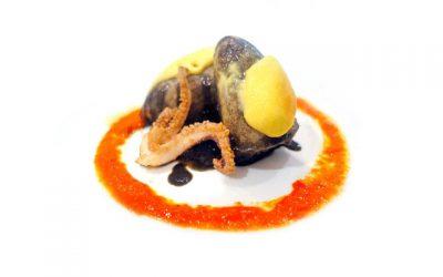 Calamares rellenos en su tinta