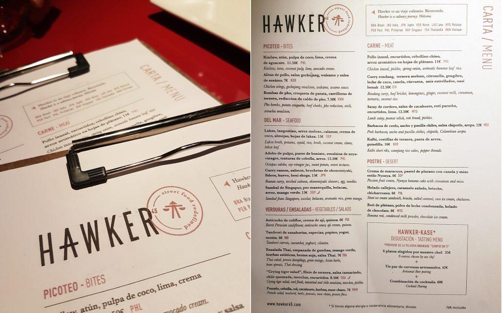 Hawker 45 carta