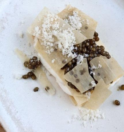 mejor receta caviar milhojas