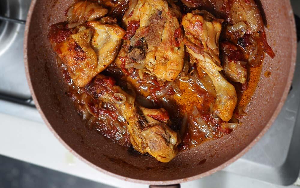 receta de perrito caliente de pollo con ketchup de gamba