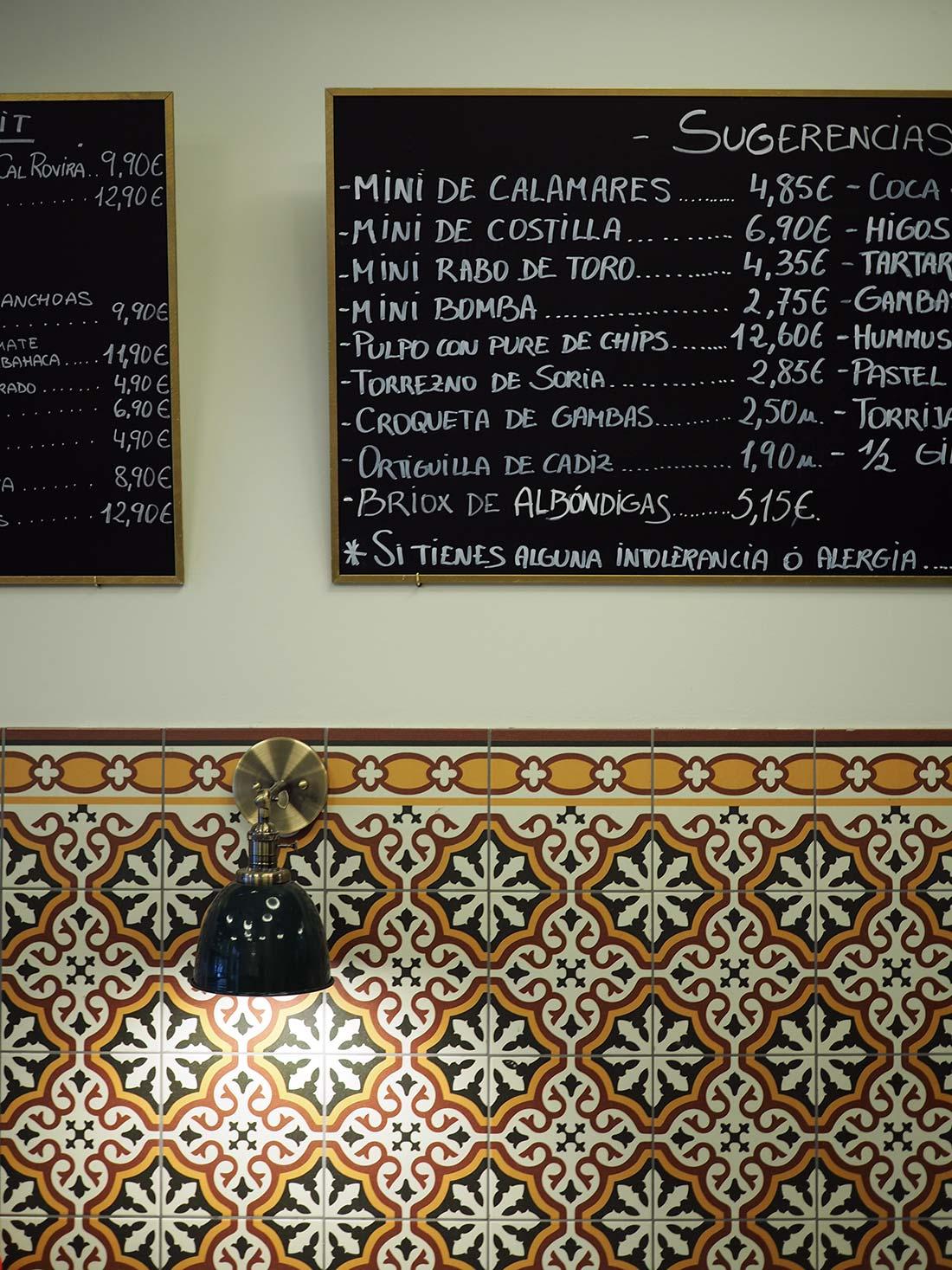 Restaurante La Mar de la Tranquilitat tapas Sant Boi